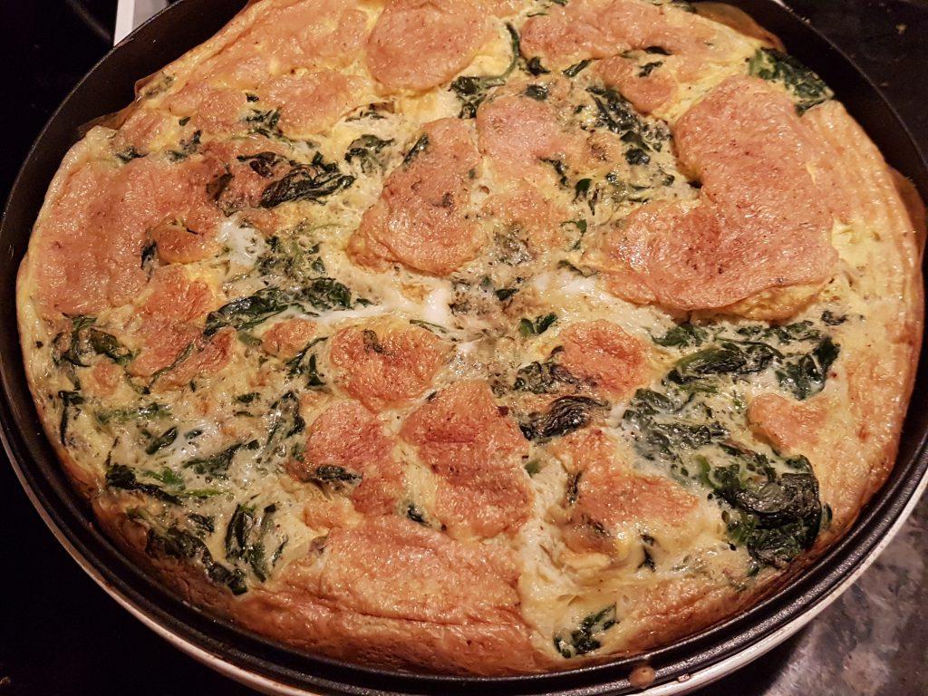 recette omelette tortilla epinards
