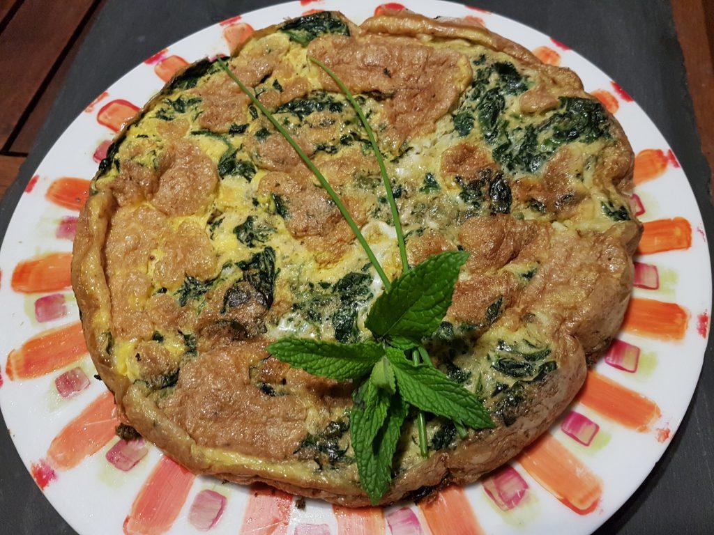 recette tortilla omelette epinards