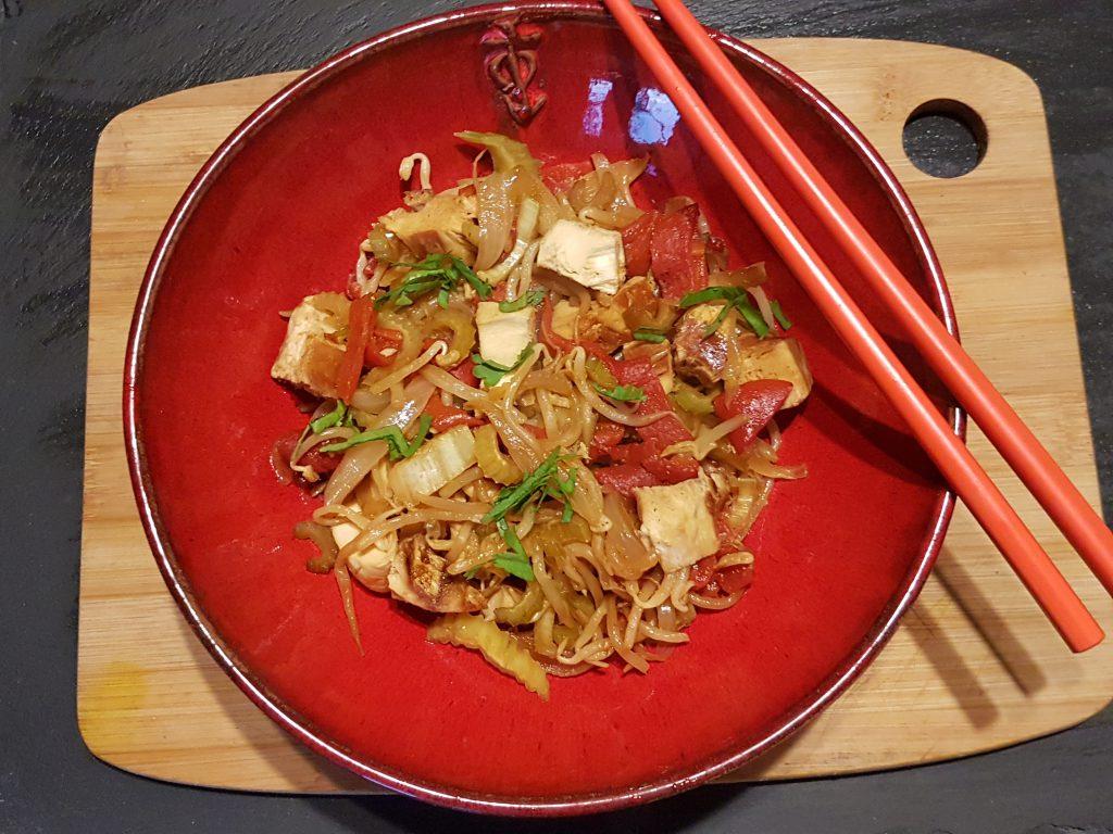 recette wok poulet poivrons