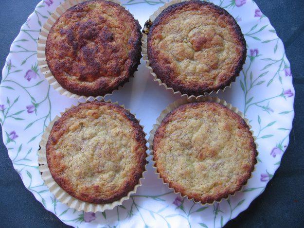 Recette de gâteaux moelleux sans gluten à la banane