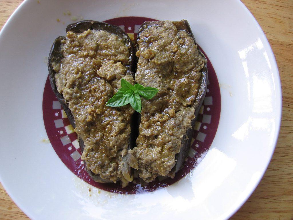 recette aubergines farcies poulet