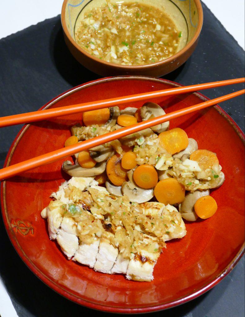 gourmicom recette poulet legumes gingembre