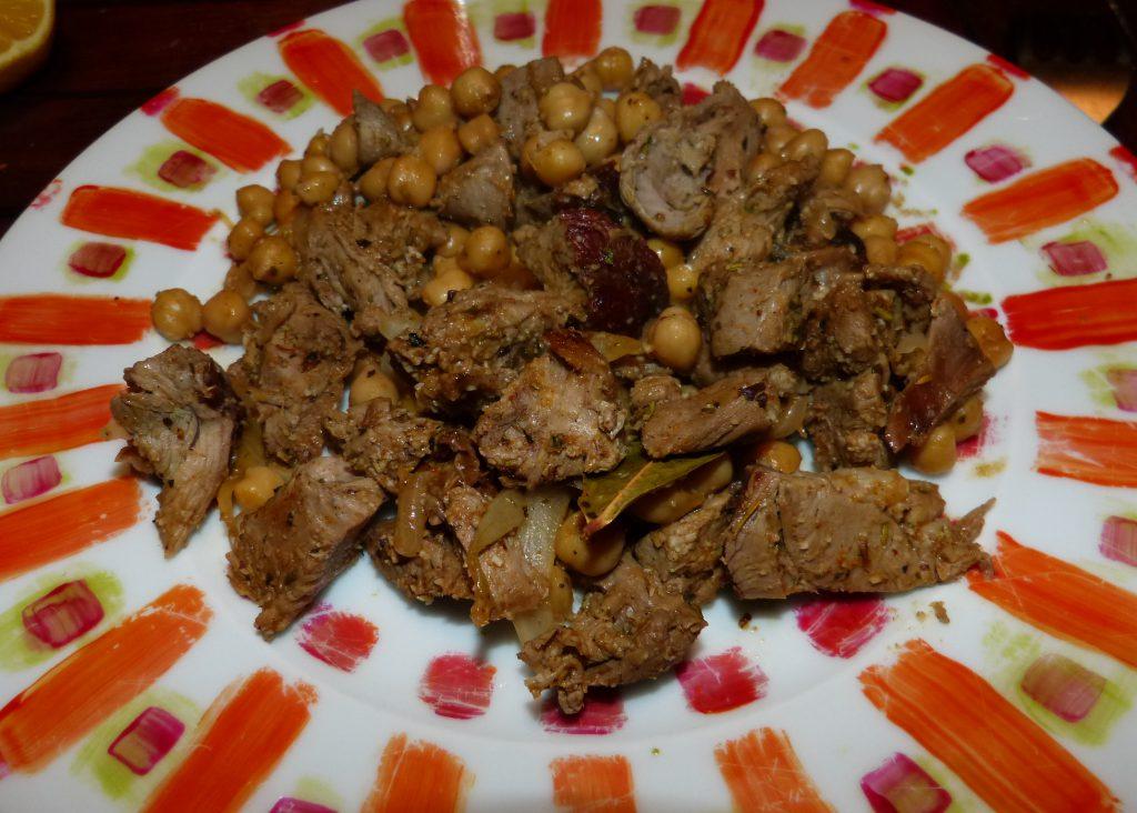 recette tajine agneau pois chiches