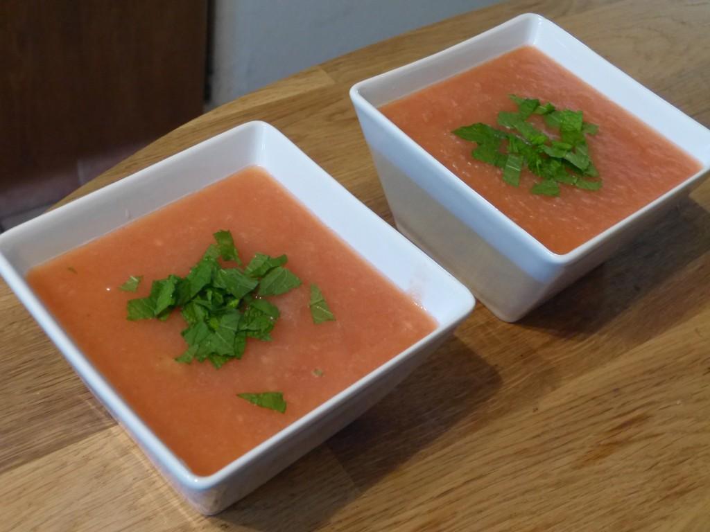 recette soupe pasteque melon