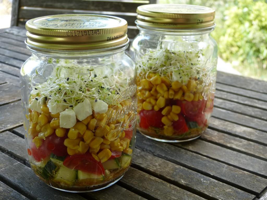 recette salade bocal mais feta