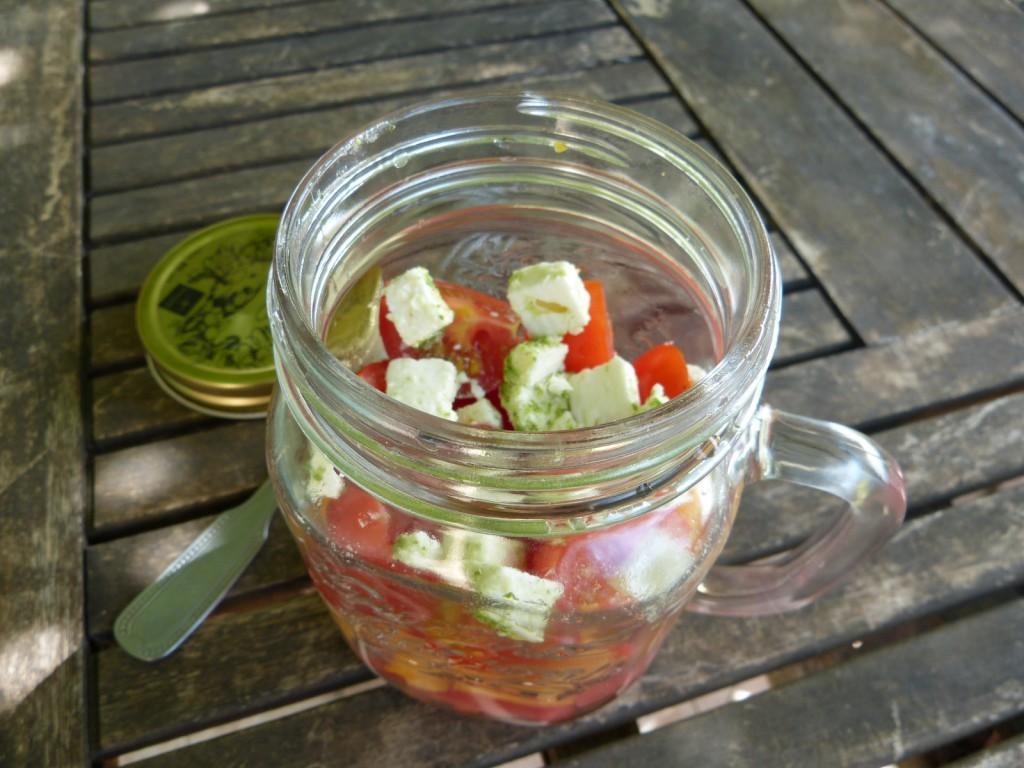 recette salade bocal pasteque melon feta