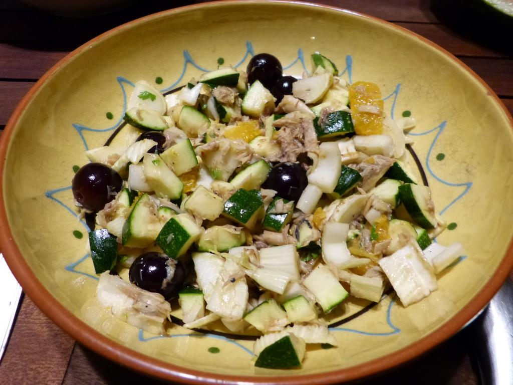 recette salade maquereau fenouil courgette