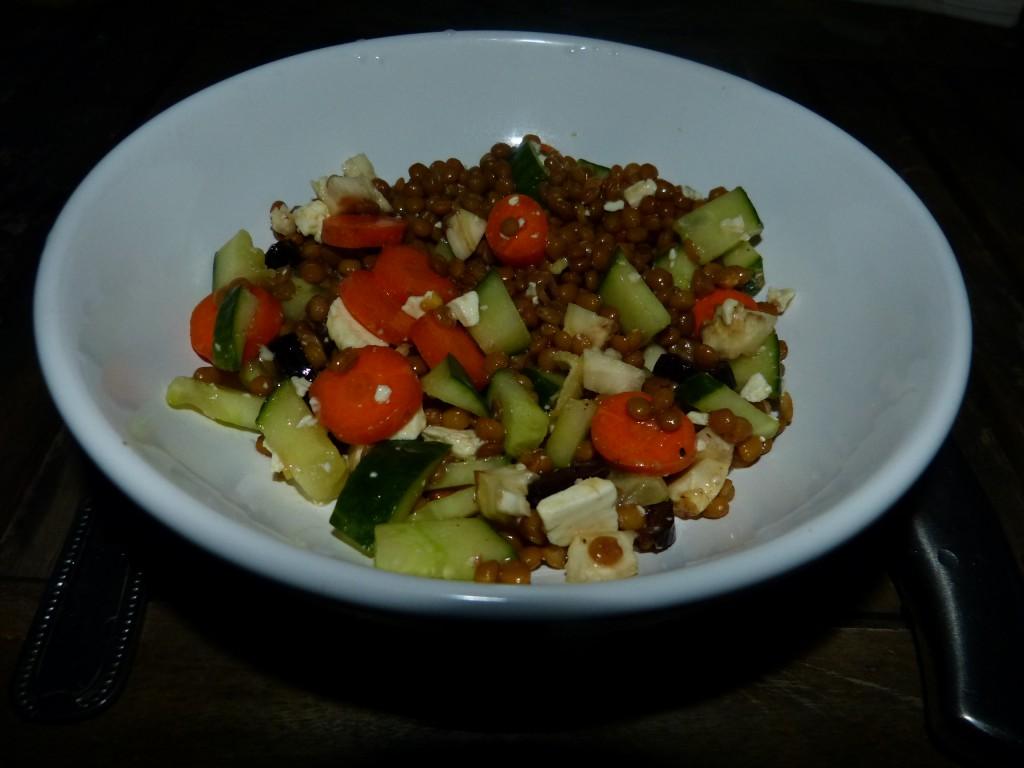 recette salade lentilles légumes
