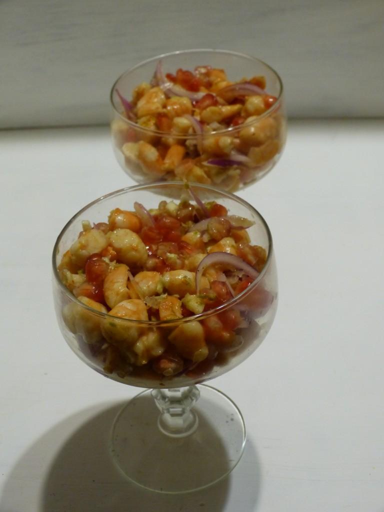 recette ceviche crevettes grenade