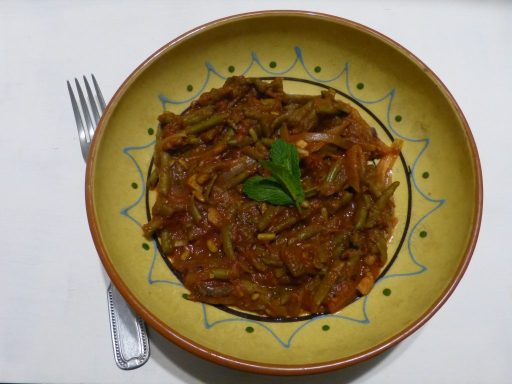 recette haricots verts tomate menthe