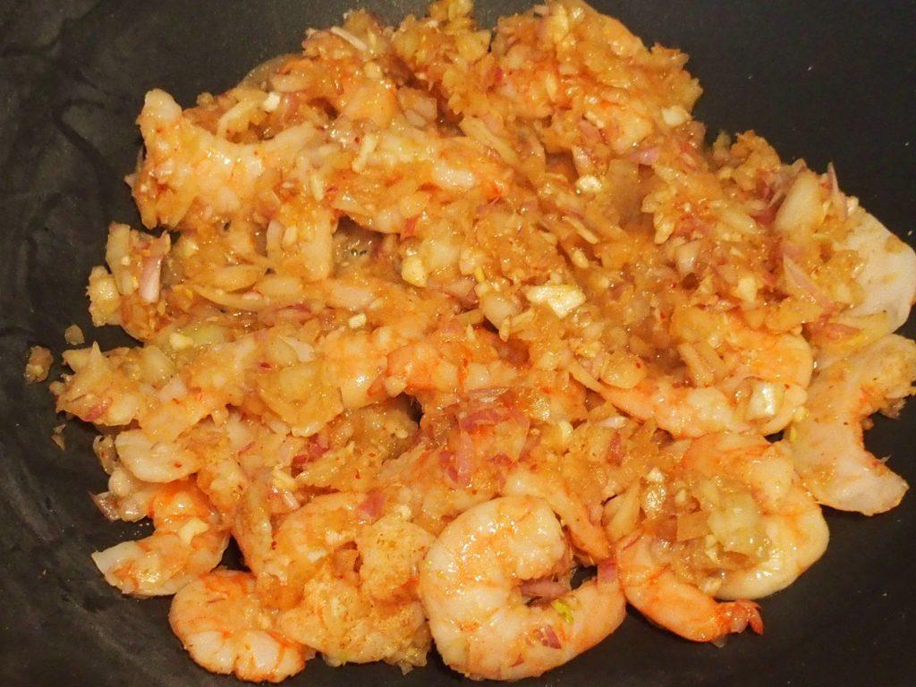 recette wok crevettes