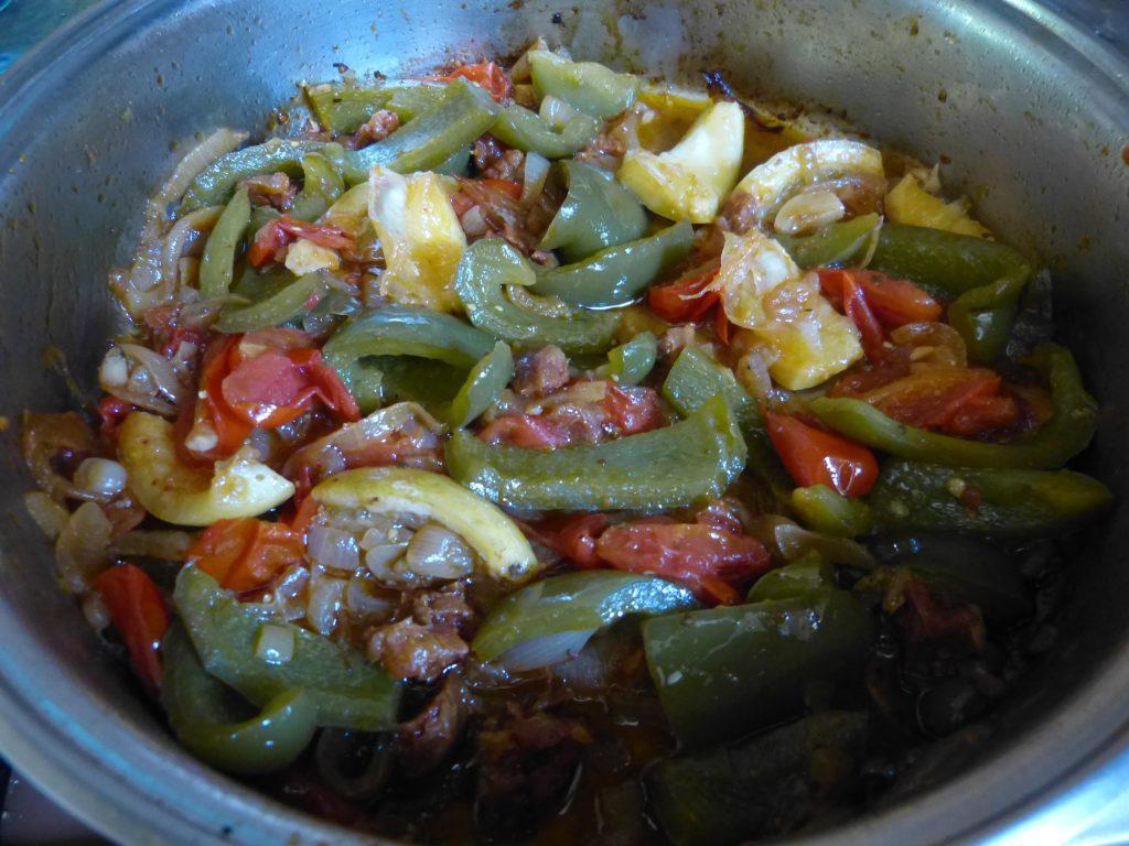 recette poivrons tomates chorizo