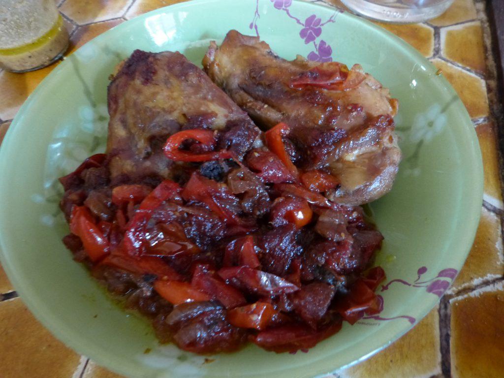 recette poulet poivrons tomates
