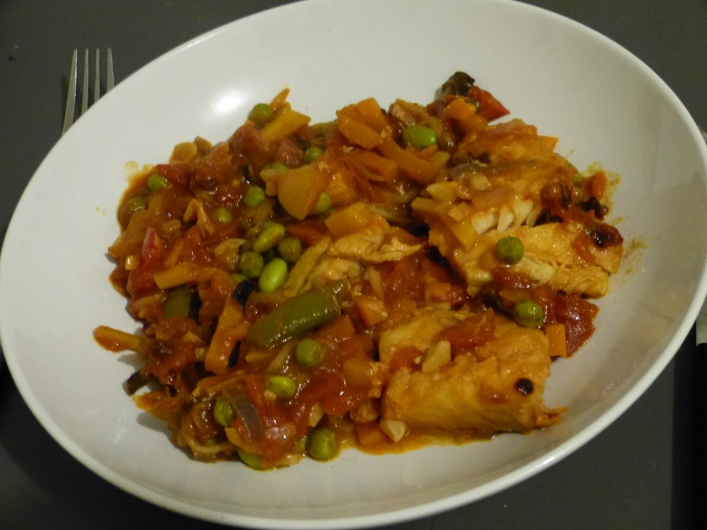 recette cabillaud epices legumes