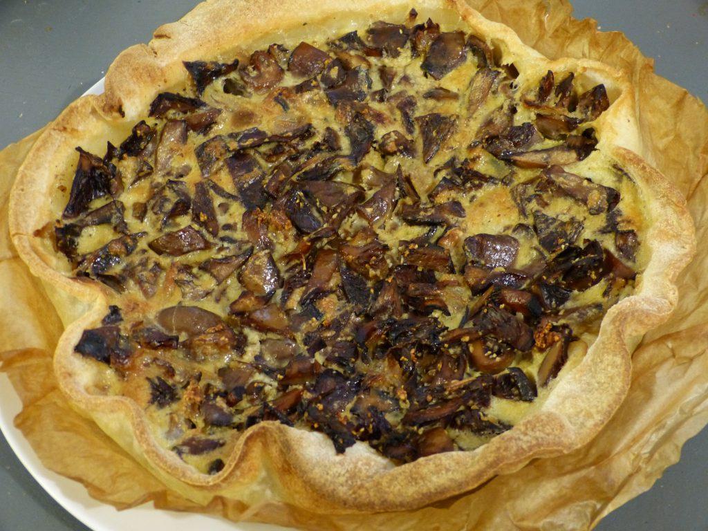recette tarte champignons
