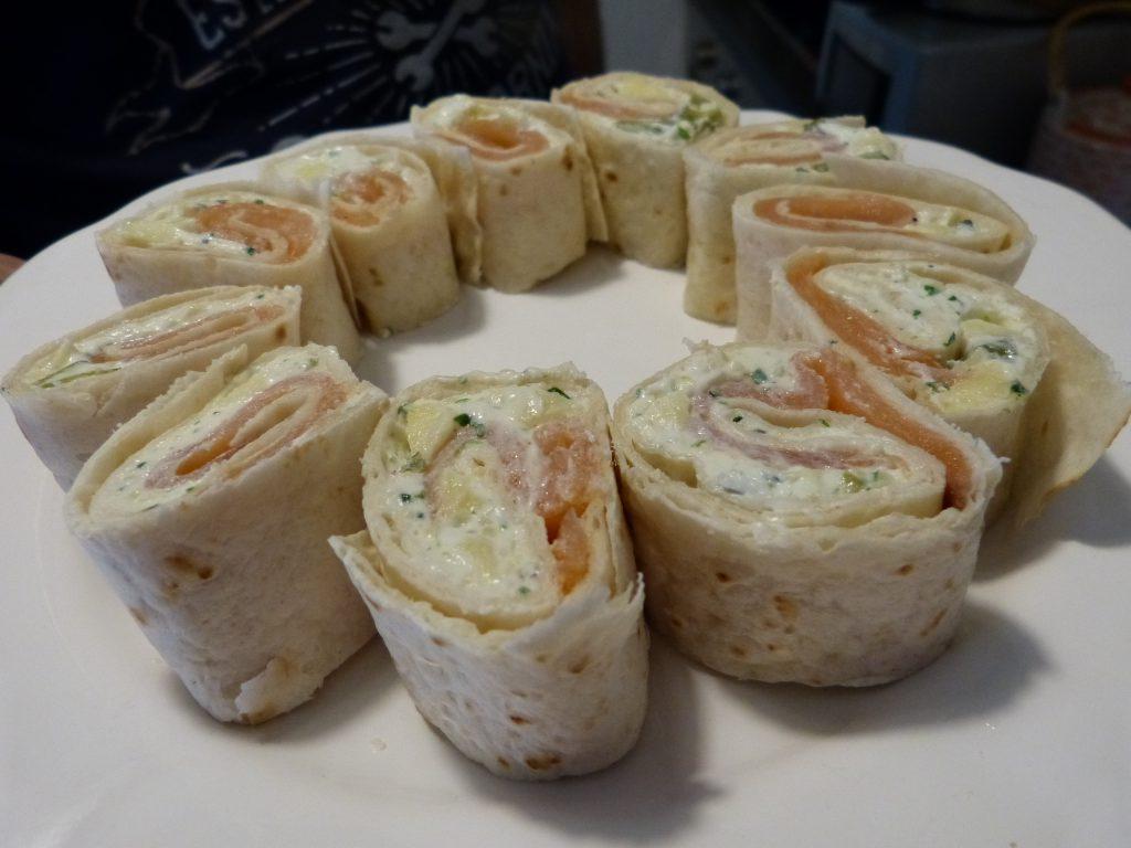 recette wraps saumon fromage frais