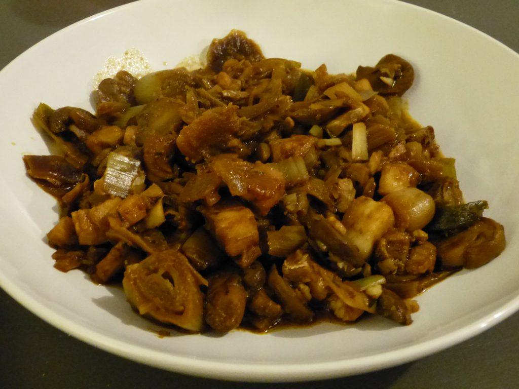 recette cabillaud poireaux champignons