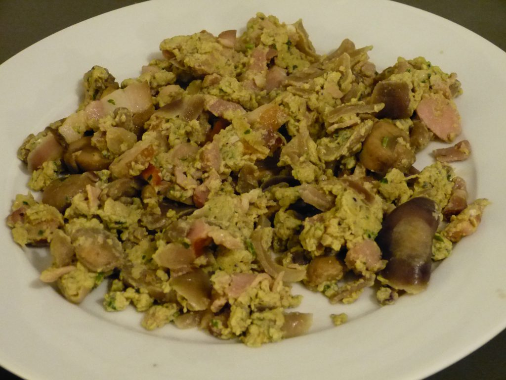 recette oeufs brouilles champignons