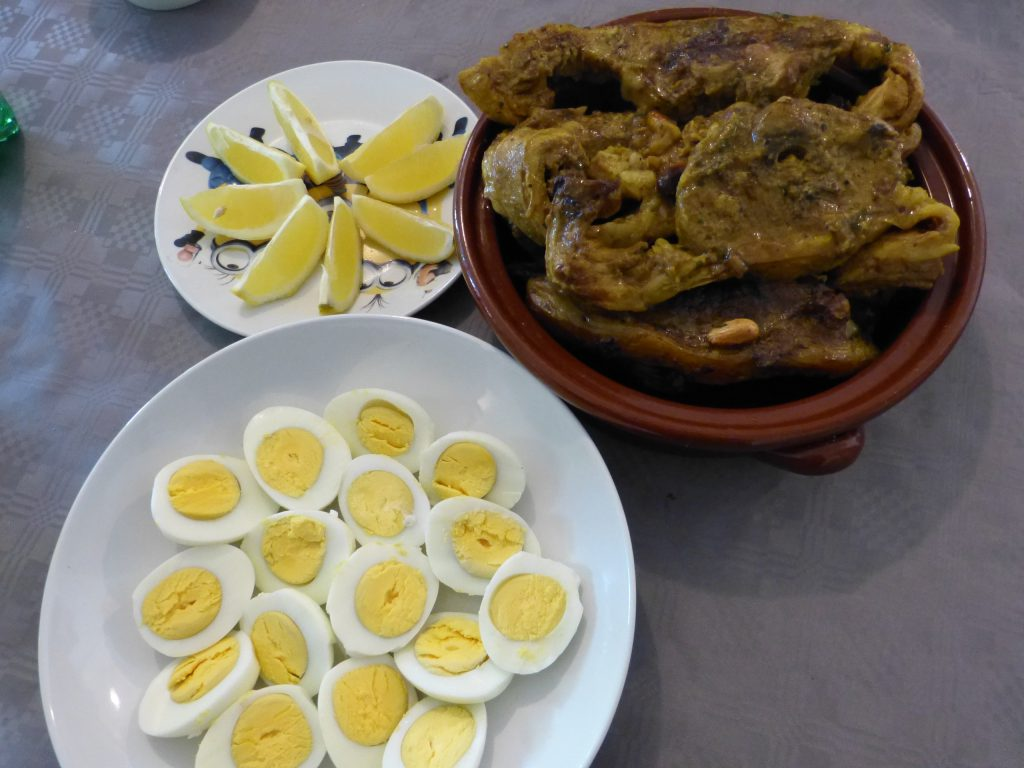 recette tajine agneau amandes oeufs