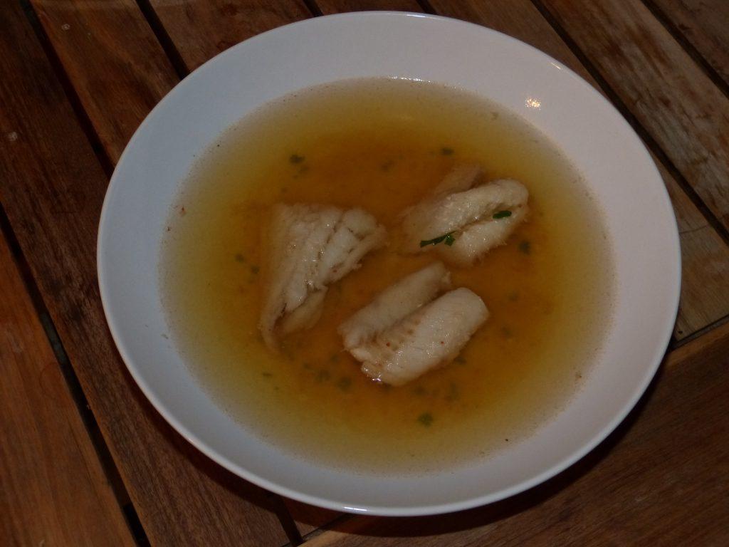 recette colin bouillon fumet crevettes