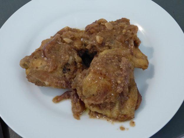 Poulet au miel et amandes grillées