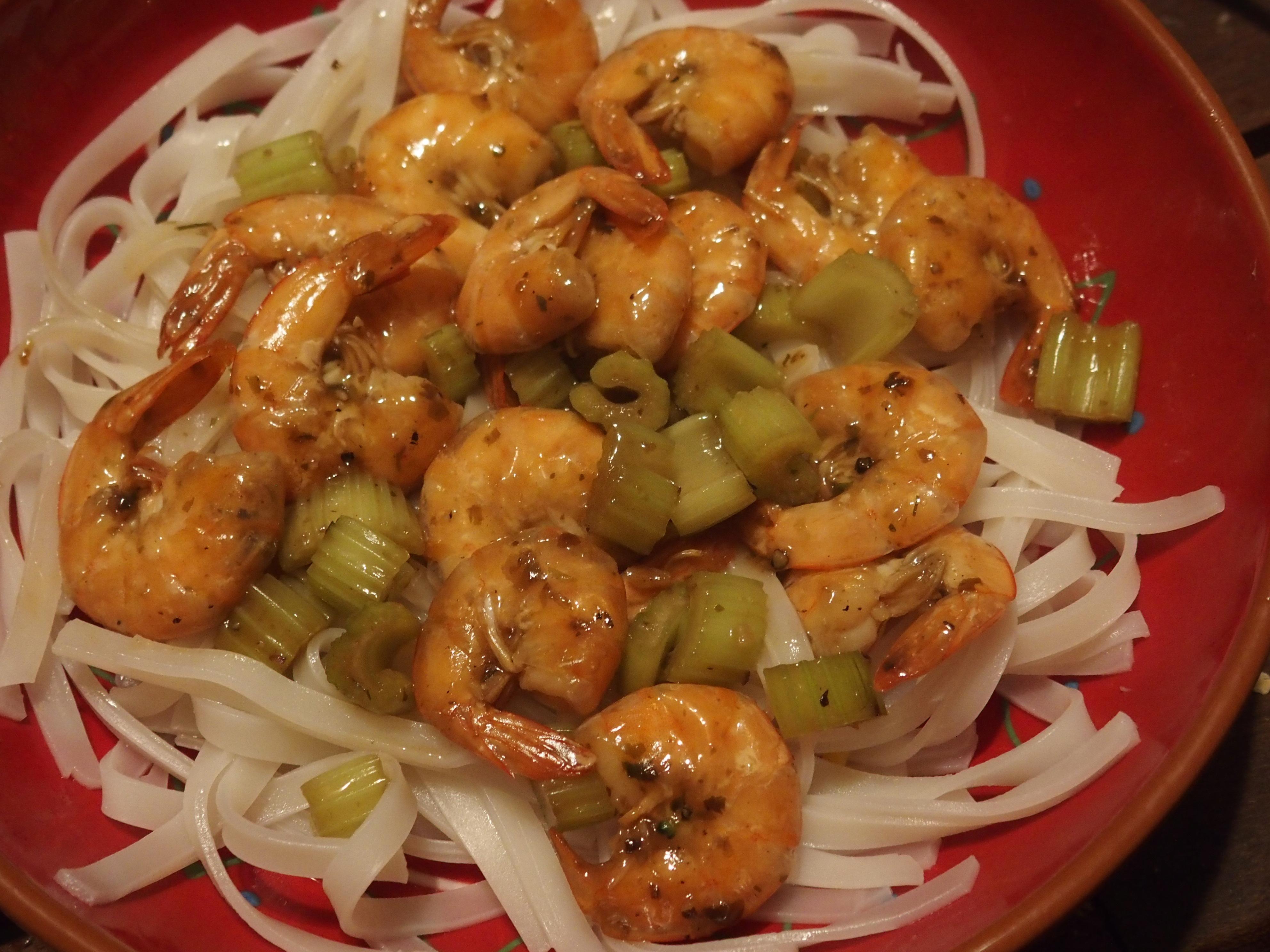 Partez en Asie avec ces crevettes sautées au céleri