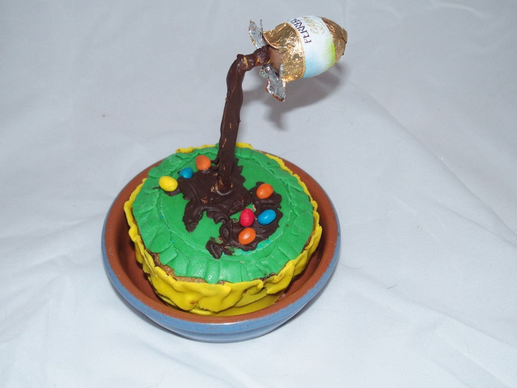 recette gravity cake chocolat paques