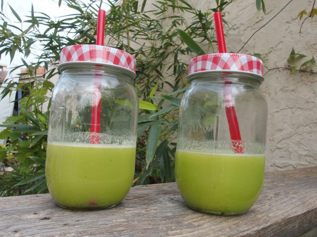 recette jus vert extracteur pomme chou kale