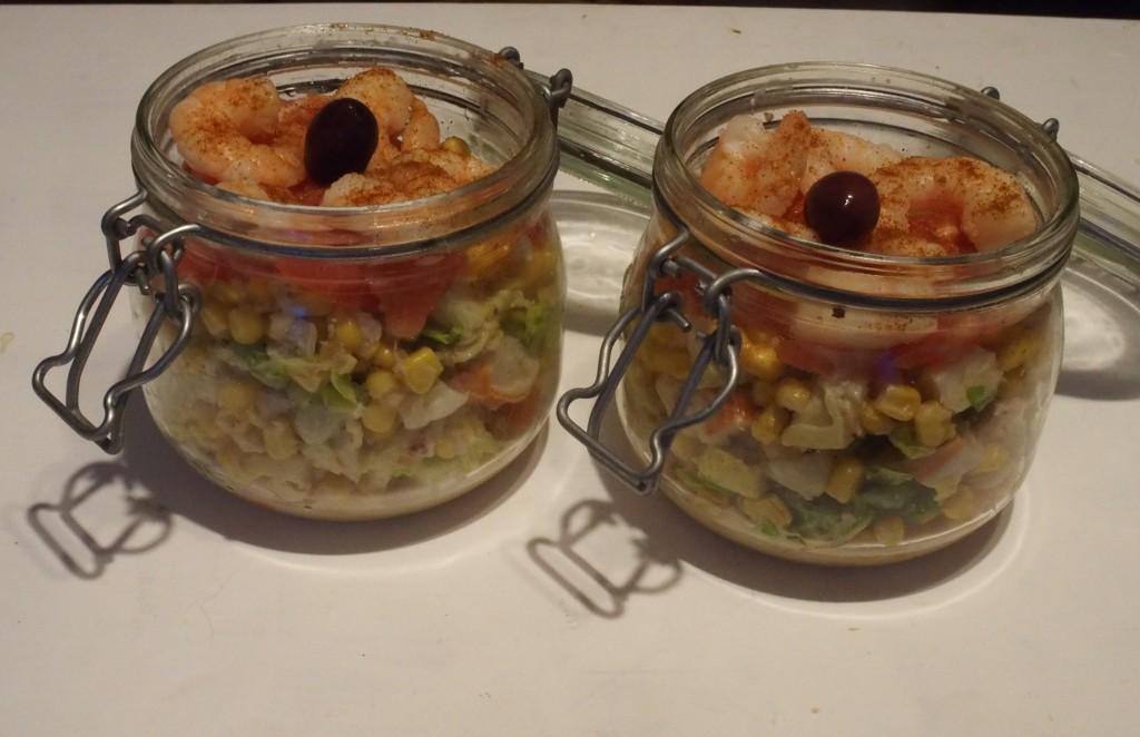 recette salade chèvre crabe