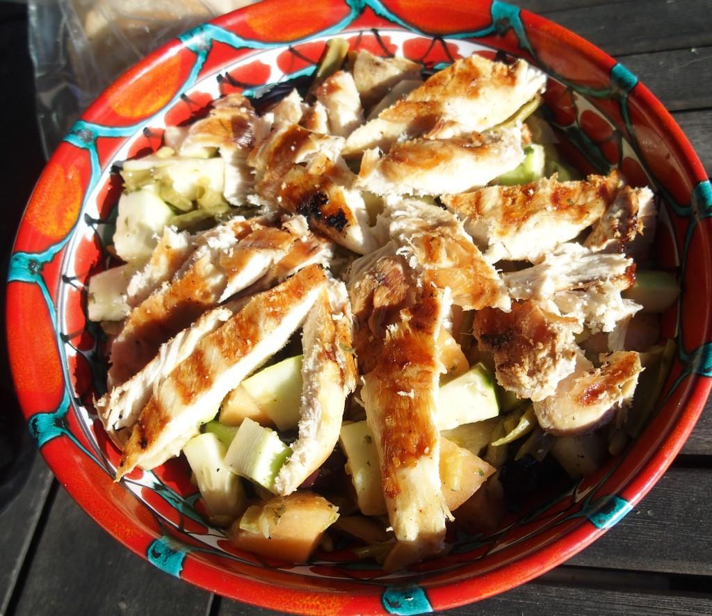 recette salade artichaud melon poulet