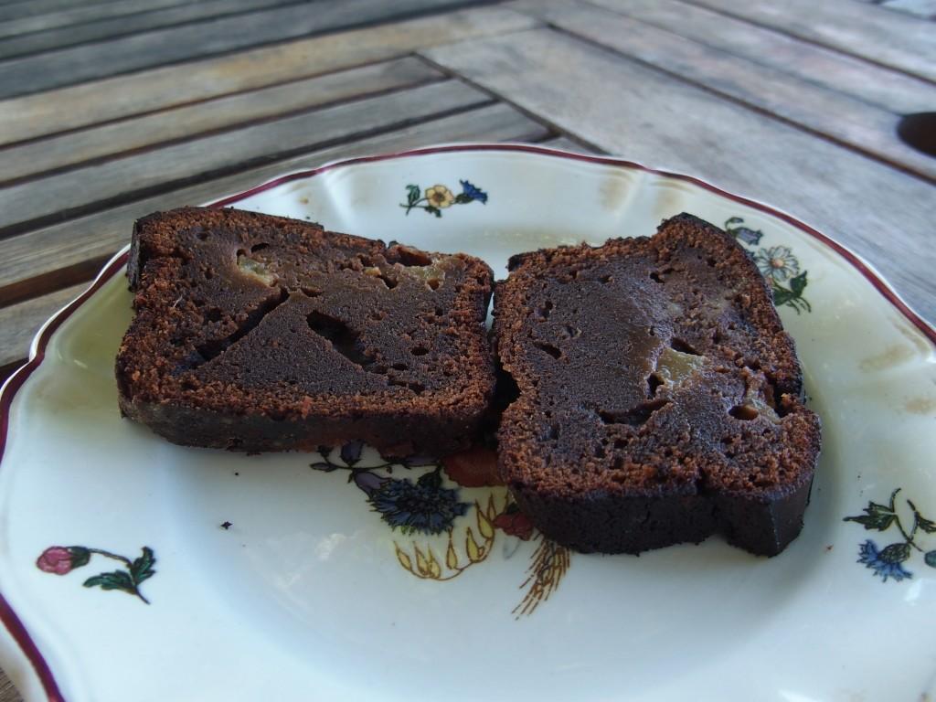 recette cake chocolat poire