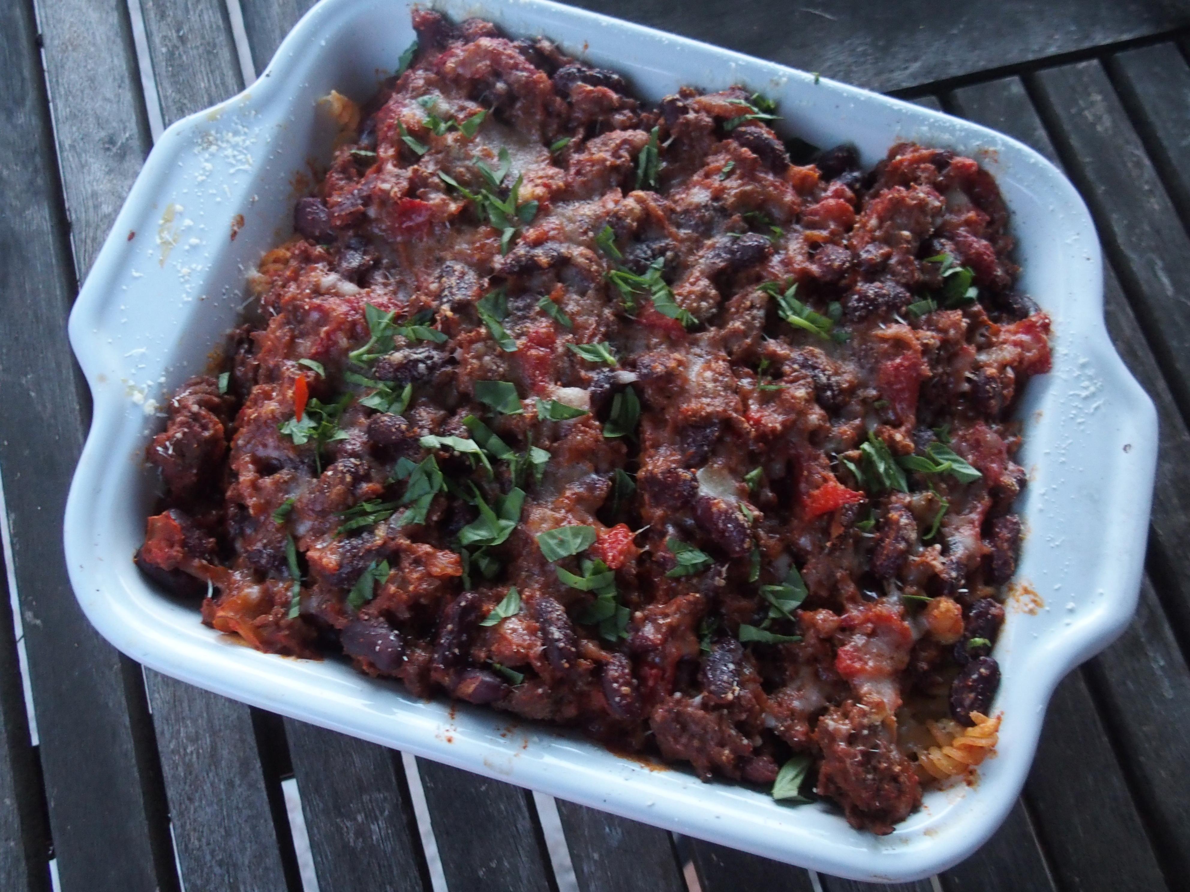 recette gratin fusilli chilic con carne