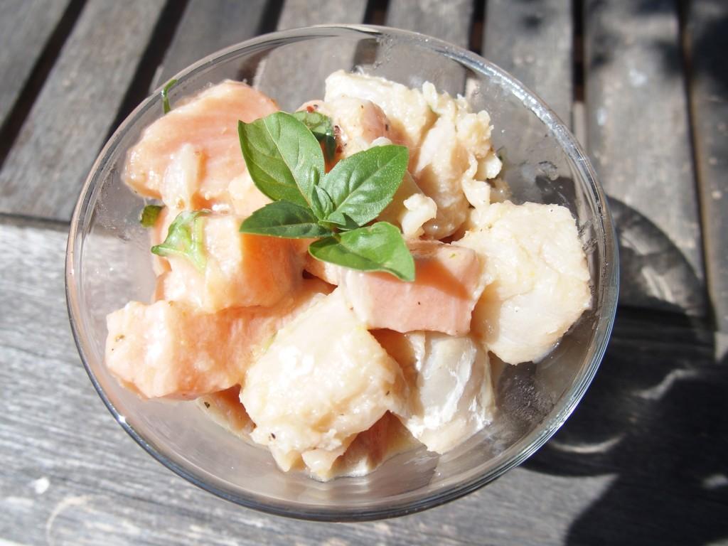 recette tartare saumon eglefin