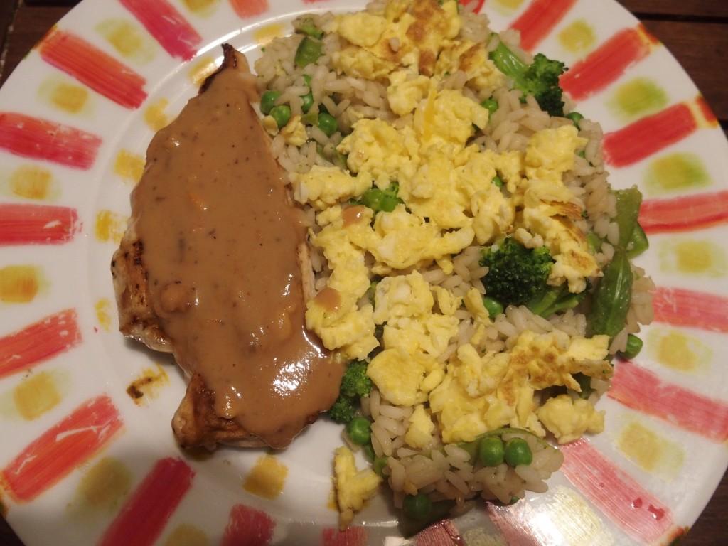 gourmicom recette poulet cacahuete oeufs riz