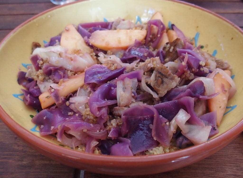 recette veau chou rouge quinoa