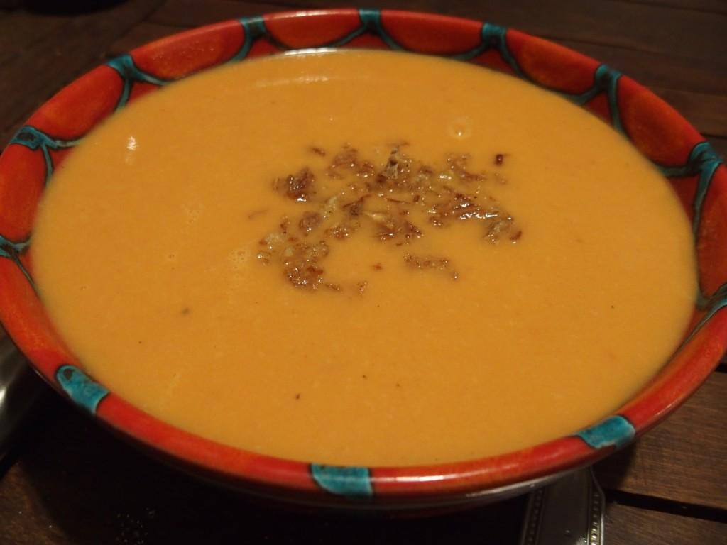 recette soupe coeur palmier tomate veloute
