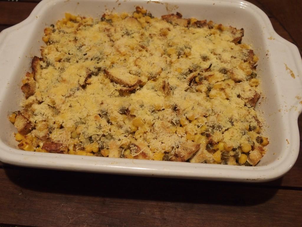 recette polenta poulet mais gratin