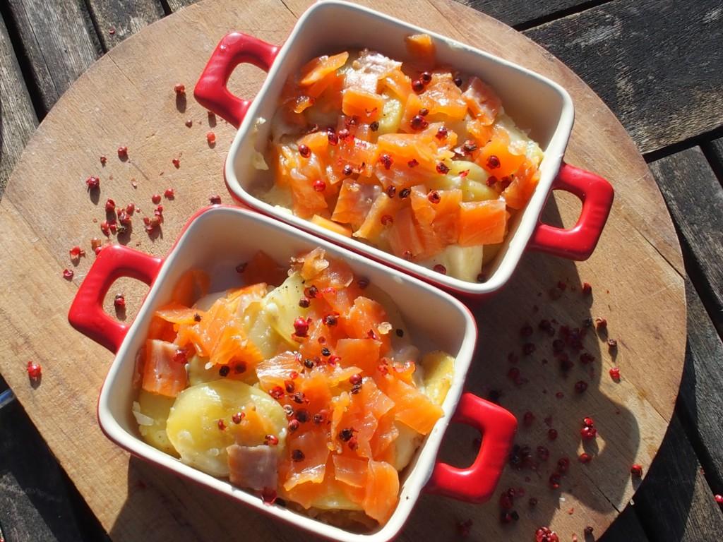 recette emince pommes terre munster truite