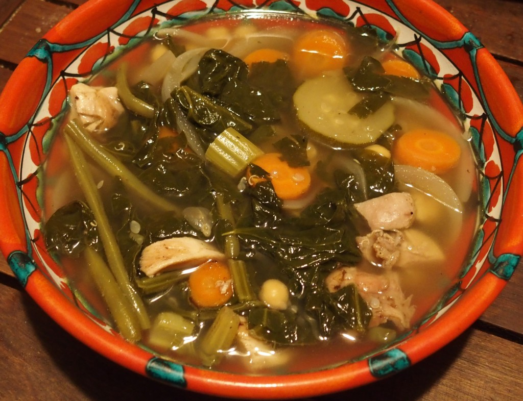 recette soupe épinards pois chiche sans gluten