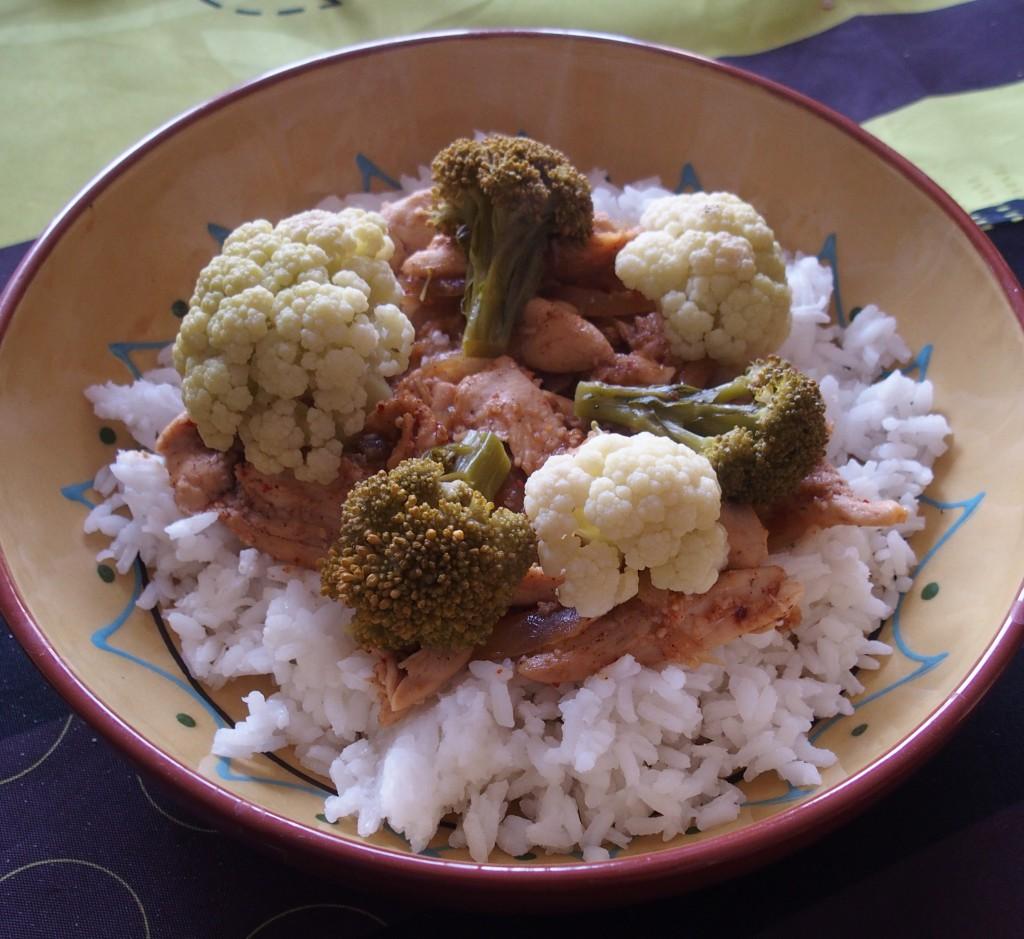 recette poulet miel wok