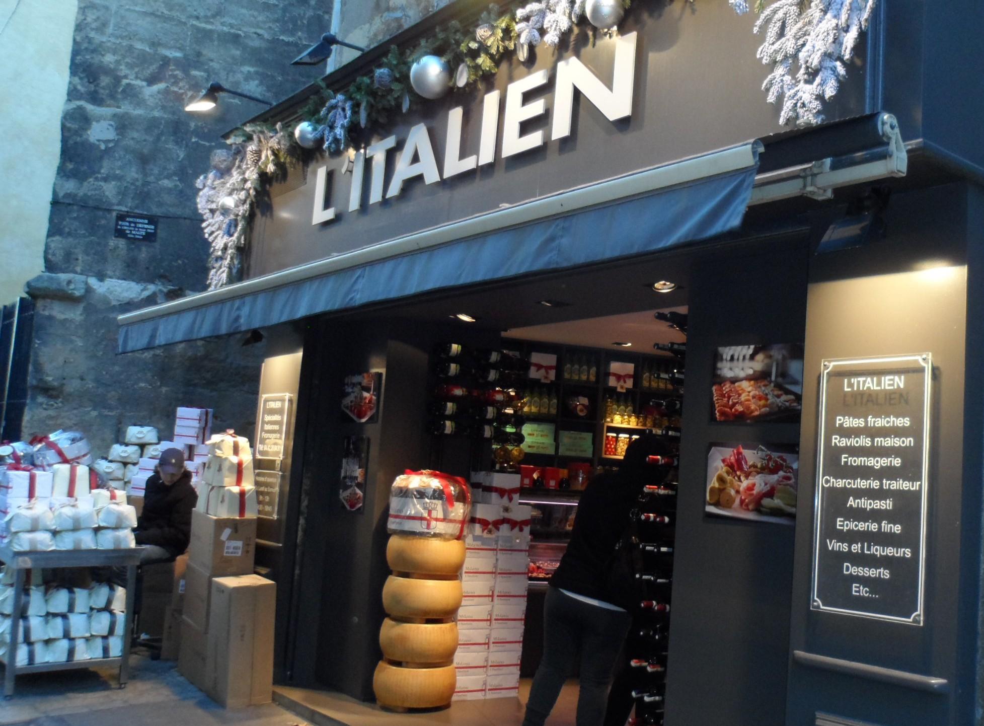«L'Italien» à Aix : mon traiteur italien préféré