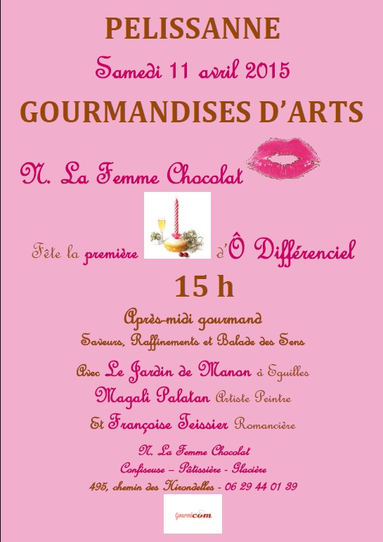 affiche gourmandises arts