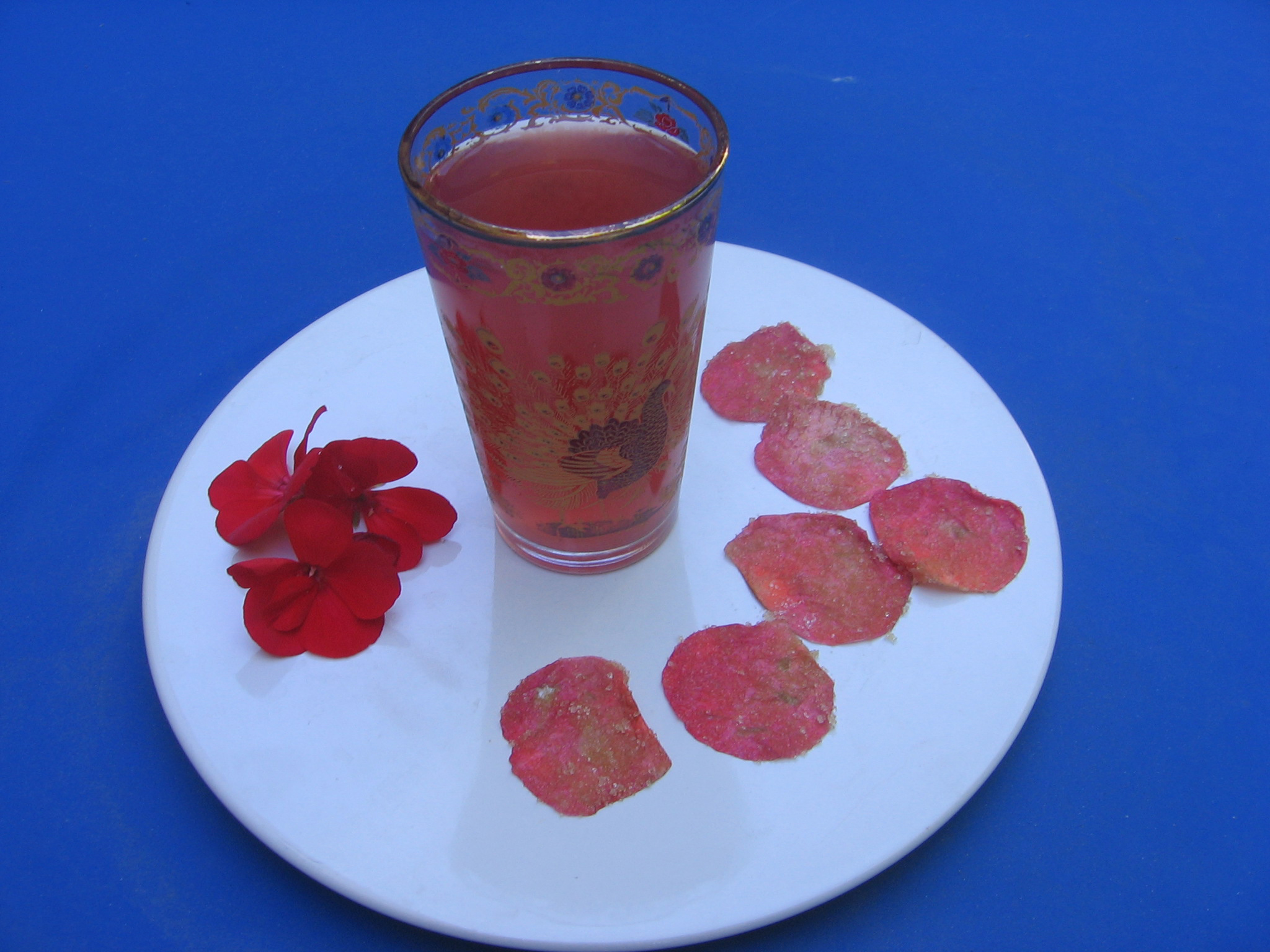 Une délicieuse boisson à la rose tout en douceur