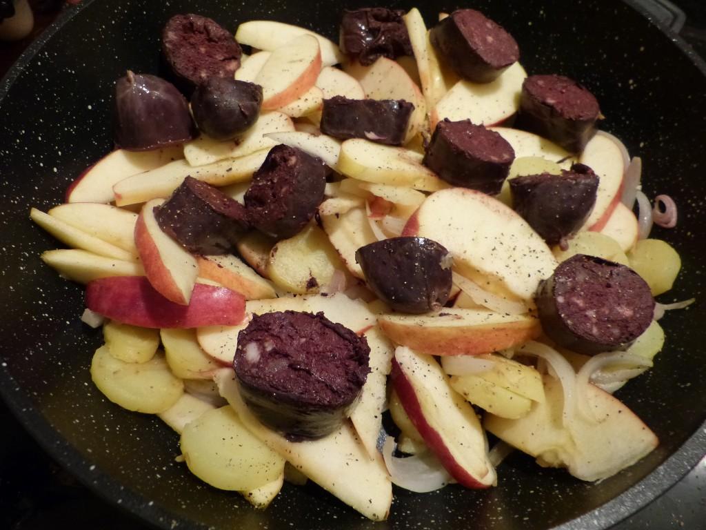boudin noir recette pomme