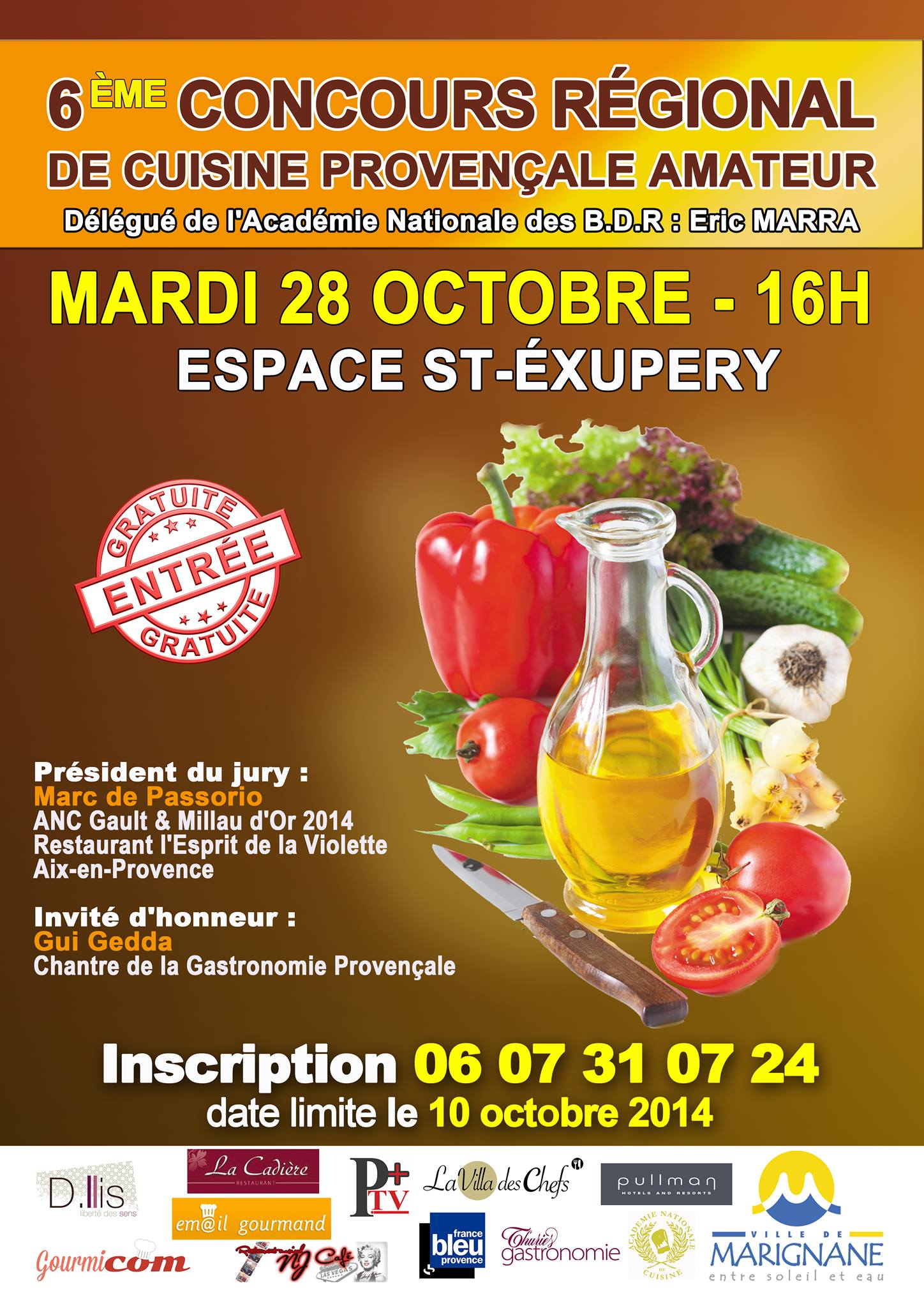 le concours r gional de cuisine proven ale amateur aura lieu le 28 octobre marignane gourmicom. Black Bedroom Furniture Sets. Home Design Ideas