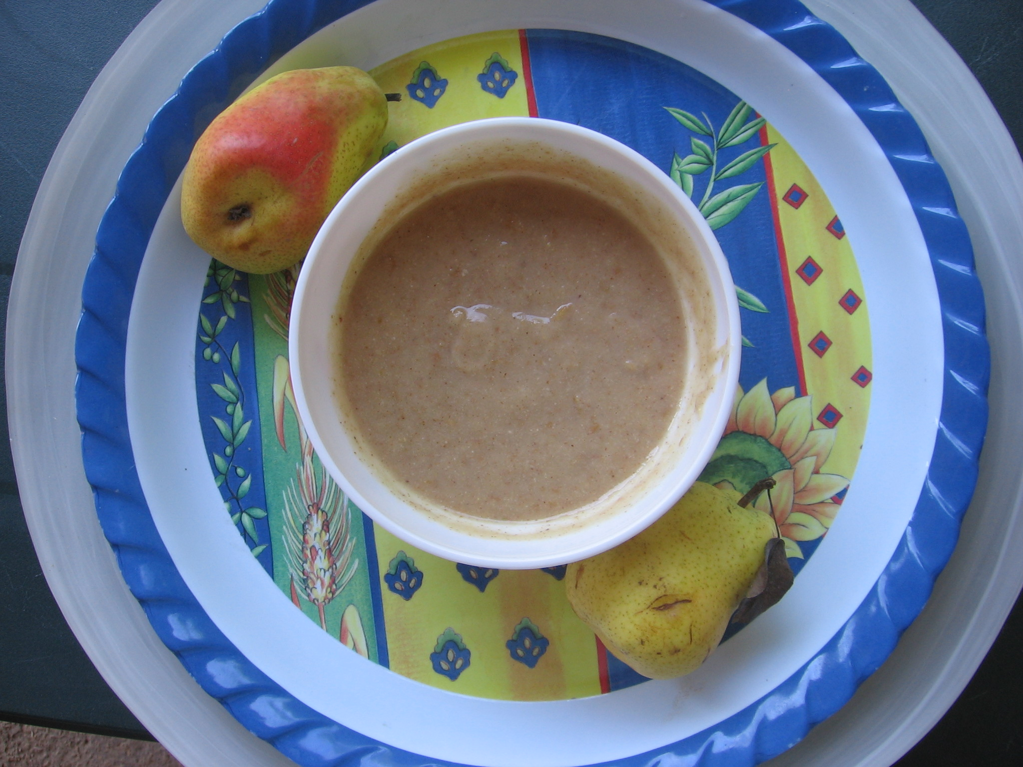 Crème de poire à la lavande sans cuisson