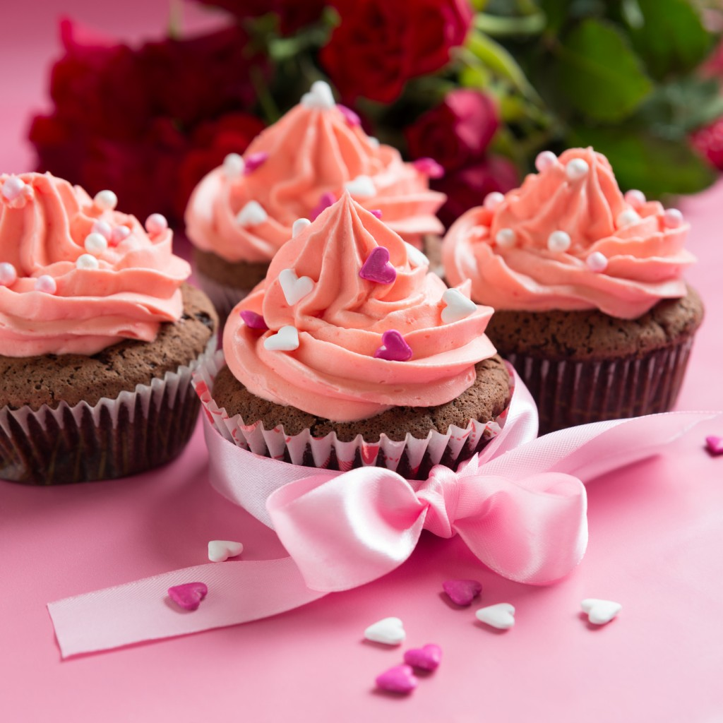 cupcake coeur saint valentin
