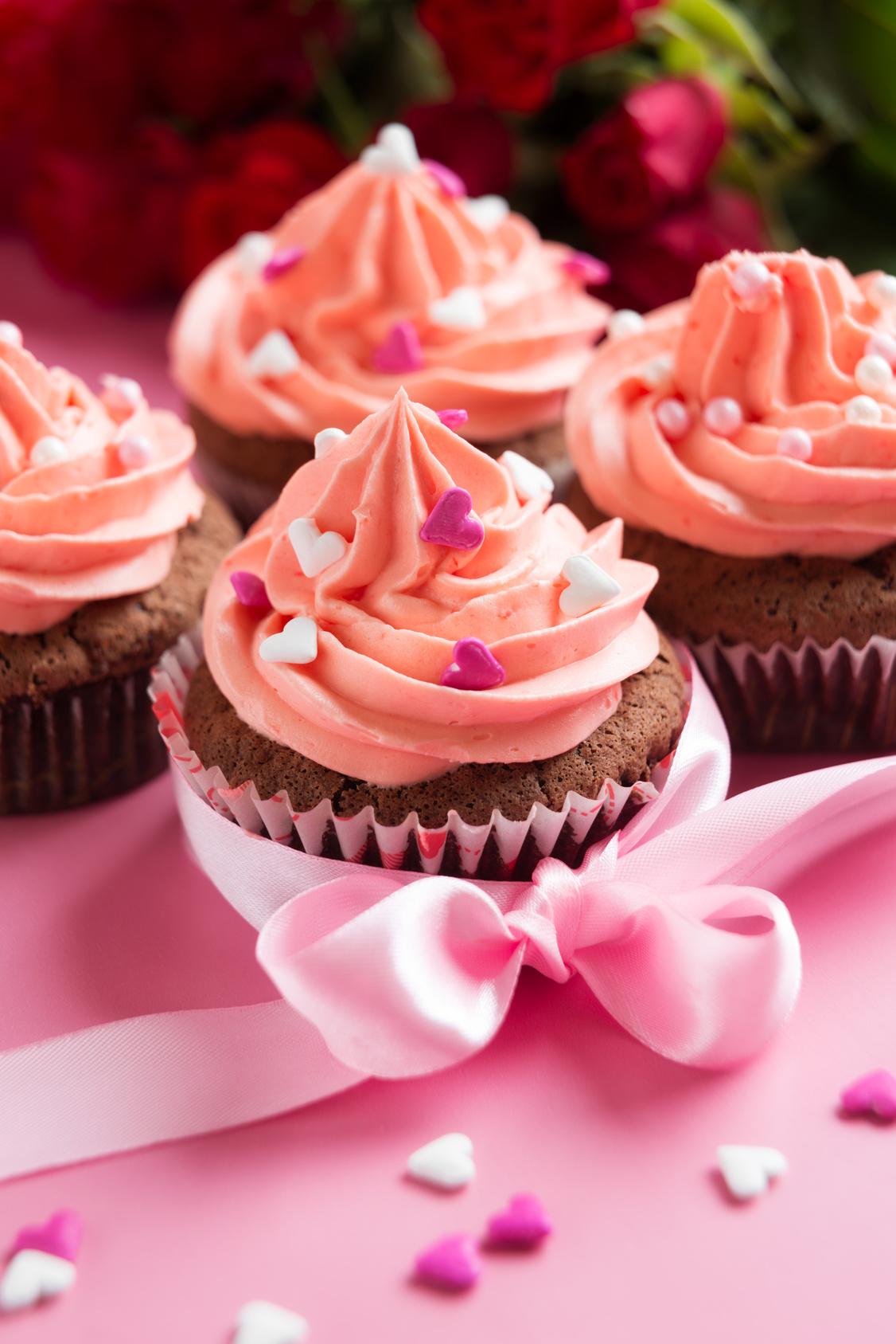 Faites fondre votre maman avec un cupcake à la framboise