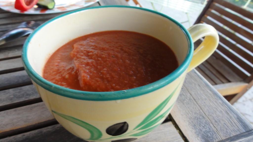 Un plat d'été très rafraichissant : le Gaspacho andalou