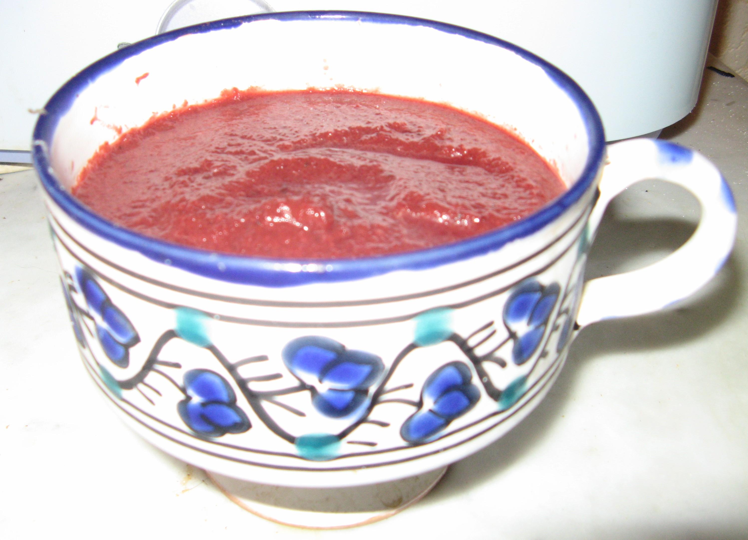 Gaspacho de betterave au vinaigre balsamique